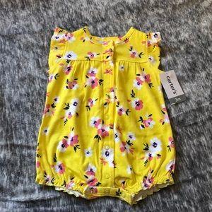 New carter's yellow bubble romper onesie 3 m baby